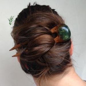 jadedrache gletscherforke haarforke grün