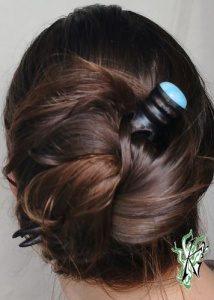 wickeldutt lange haare
