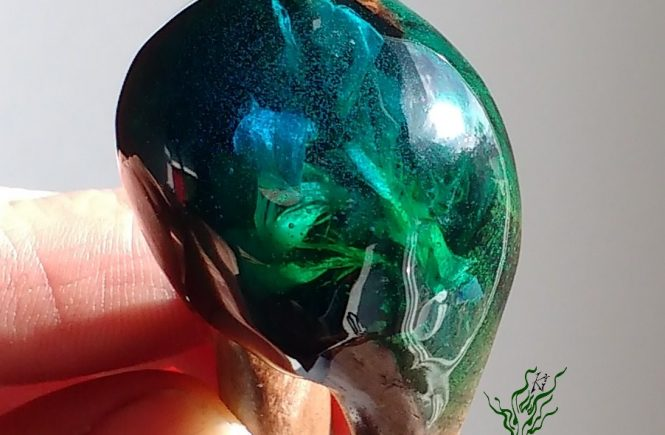 jadedrache gletscherforke grün blau