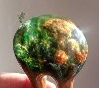 jadedrache gletscherforke grün gold