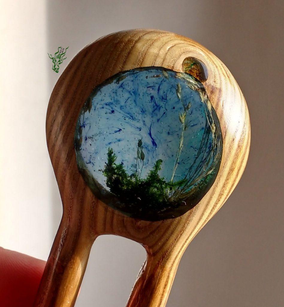 Jadedrache´s Gletscherforke Güldener Spiegel mit Landschaft Haarforke